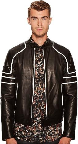 Just Cavalli - Contrast Moto Leather Jacket