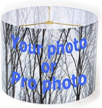 Redipix Custom Photo Decorative Drum (Cylinder) Lampshade 8x8x11 inch with Spider top