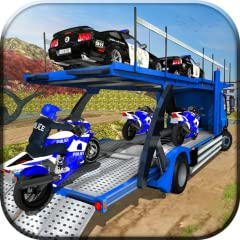 Off Road Police Truck Driving Adventure Police Car Transporter Trailer Truck Smooth and Realistic Controls Police Bike & Police Car Driving Amazing Snowfall & Hills Environment Real Experience of Up Hill Cargo Truck Driving Multiple Weather Condition...