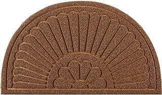 Sponsored Ad - Mibao Half Round Door Mat, Rubber Doormats Welcome Entrance Way Mat, Heavy Duty Semicircle Door mats, Non-S...