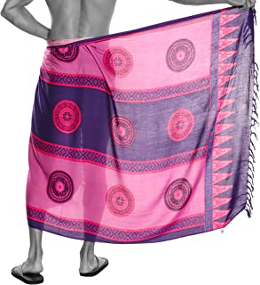 1 World Sarong Mens Abstract Tiki Sarong