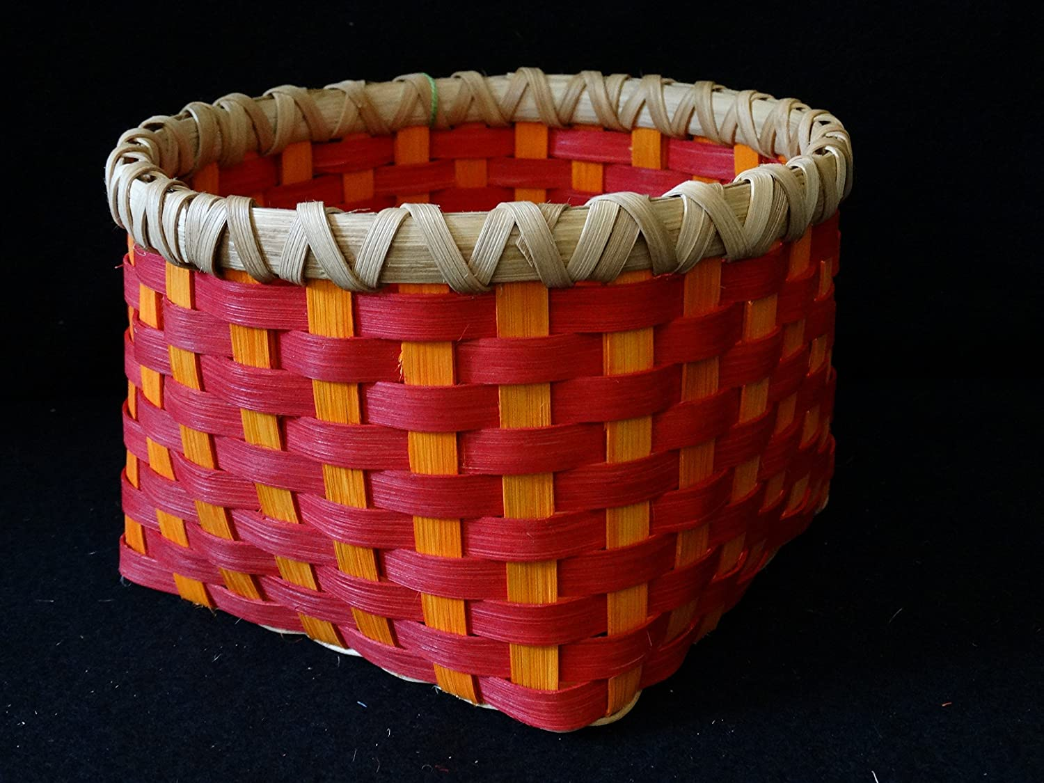 Hand Woven Direct sale of manufacturer Basket in Cherry Red and low-pricing Orange. Storage Bas Sunshine