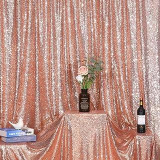 Poise3EHome Foto Vorhang mit Pailletten, 2,4 x 2,4 m, glitzernd, für Hochzeit/Party