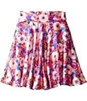 Oscar de la Renta Childrenswear - Rainbow Dahlia Mikado Circle Skirt (Toddler/Little Kids/Big Kids)
