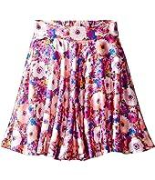 Oscar de la Renta Childrenswear Rainbow Dahlia Mikado Circle Skirt (Toddler/Little Kids/Big Kids)
