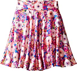 Rainbow Dahlia Mikado Circle Skirt (Toddler/Little Kids/Big Kids)