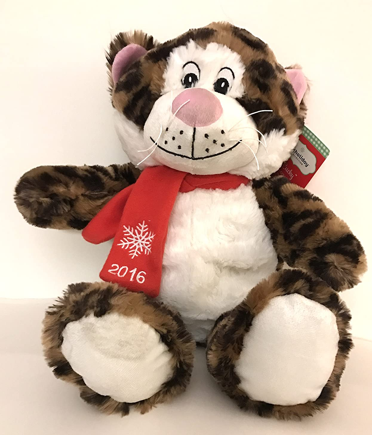 Lucky Plush Animal Pet Squeaky Large Holiday Toy Collectible 2016 Cat Tiger 17