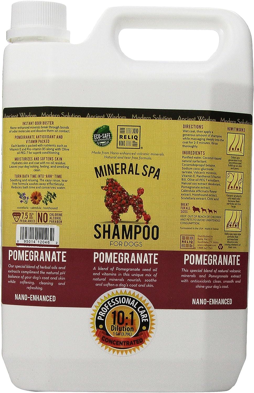 RELIQ Mineral SPA Shampoo for Dogs, 1Gallon, Pomegranate