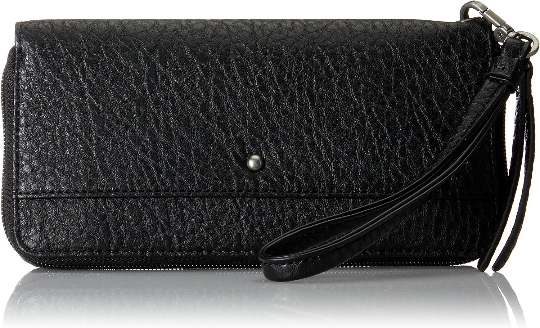 ESPRIT 097ea1v003, Women's Wallet, black (Black), 1x9,5x19,5 cm (B x H T)
