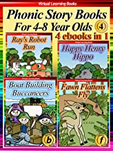 Phonic Story Books For 4-8 Year Olds Collection 4 (4 Ebooks In 1: Books 15 to 18) (Phonic Ebooks: Picture Books (Peekaboo: Everyday Stories Collection)) (English Edition)