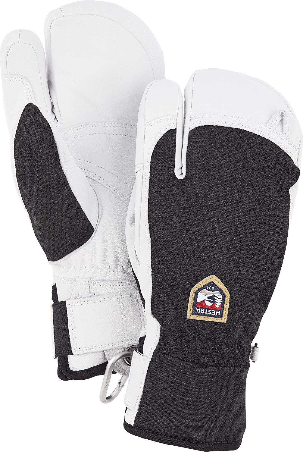 Hestra Army Leather Patrol 3-Finger Glove - Warm, Versatile 3-Finger Glove for Winter, Skiing, and Snowboarding