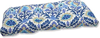 Pillow Perfect Outdoor Santa Maria Wicker Loveseat Cushion, Azure