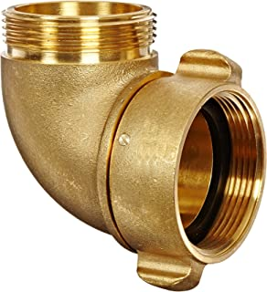Dixon Valve RSE90250F Brass Fire Equipment, 90 Degree Angle and Suction Elbow with Rocker Lug, 2-1/2
