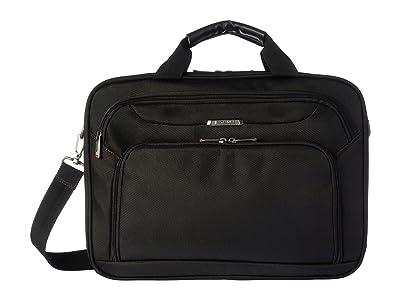 Samsonite Xenon 3 Two Gusset Brief Checkpoint Friendly (Black) Briefcase Bags