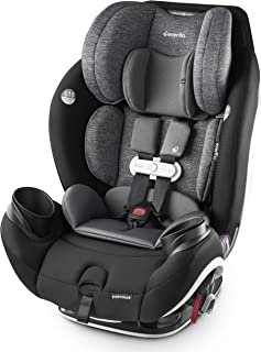 Evenflo Gold SensorSafe EveryStage Smart All-in-One Convertible Car Seat, Moonstone, Black