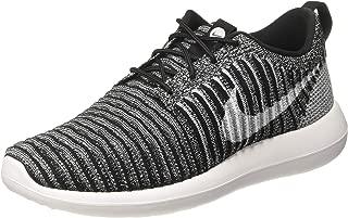 Men Roshe Two Flyknit (black / black-bright crimson-white) Size 10 US