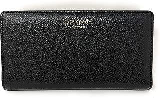 Kate Spade New York Slim Eva Leather Bifold Wallet (Black)