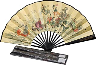 WTCZ Chinese Traditional Painting Fan with Long History& Coloured Drawing