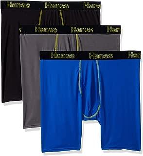 Men's Comfort Flex Fit Lightweight Mesh Long Leg Boxer Brief 3-Pack
