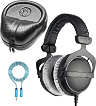 Beyerdynamic DT 770 PRO 32 Ohm Closed Back Headphones Bundle with SLAPPA Hardbody PRO Headphone Case and Blucoil 6-FT Headphone Extension Cable (3.5mm)