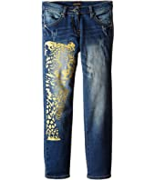 Roberto Cavalli Kids - Denim Pants w/ Leopard Design (Big Kids)