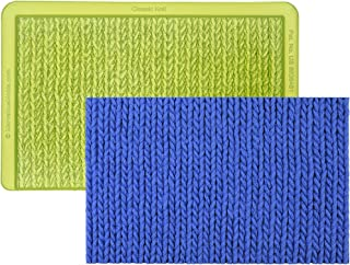 Marvelous Molds Classic Knit Simpress Silicone Mold | Cake Decorating | Fondant Gum Paste Icing