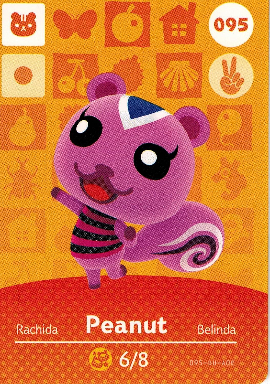 Animal Charlotte Mall Crossing Nintendo Amiibo # Peanut Trust Card 95