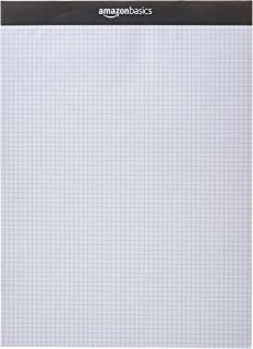 AmazonBasics Quad-Ruled Paper Pad - Pack of 2, 8.5 Inch x 11.75 Inch