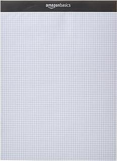 AmazonBasics Quad-Ruled Paper Pad - Pack of 2, 8.5 Inch x 11.75 Inch