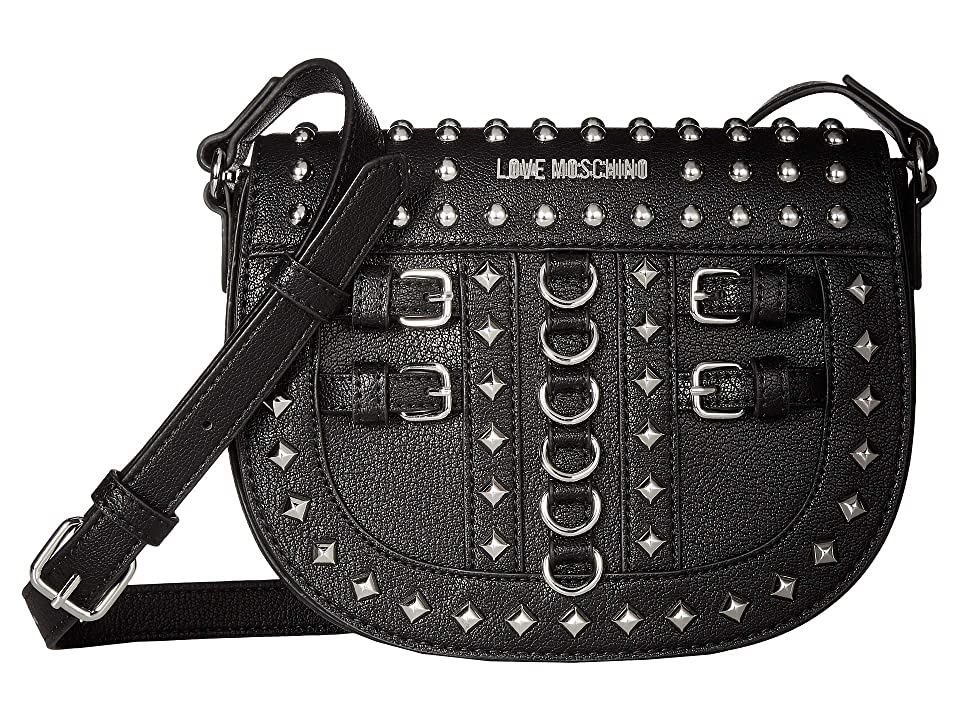 LOVE Moschino - LOVE Moschino Crossbody Bag with Belt Studs