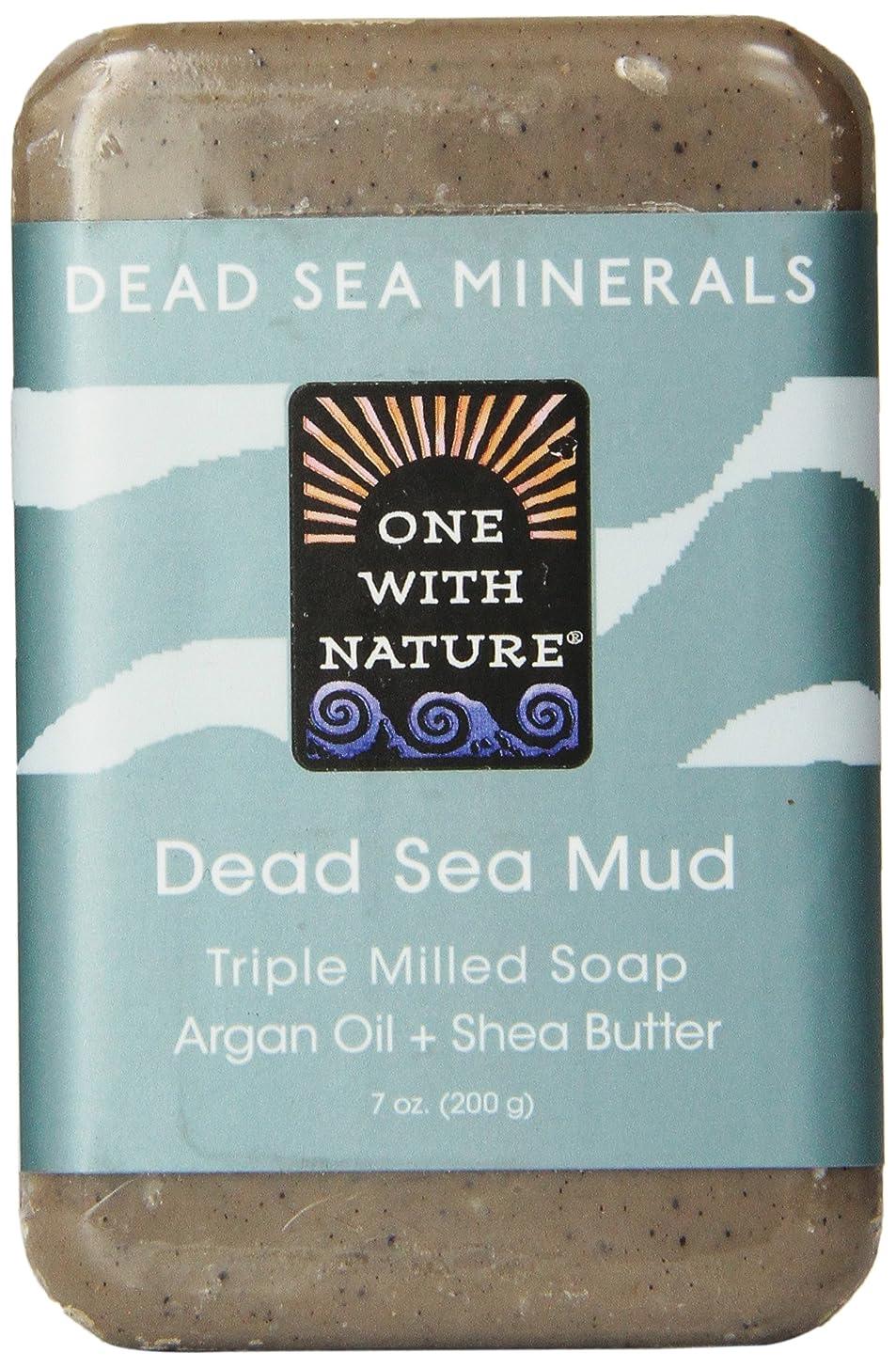 何よりも心理学スローガンOne With Nature Dead Sea Mud Soap 200 g (並行輸入品)