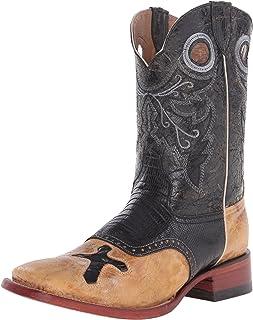 حذاء فيرني غربي من جلد السحالي للرجال