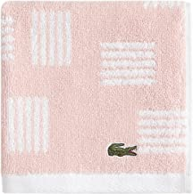 """Lacoste Raster 100% Cotton Towel, 13"""" W x 13"""" L Wash, Blossom Pink"""