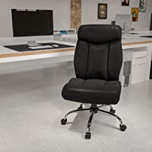 Flash Furniture HERCULES Series Big & Tall 400 lb. Rated Black LeatherSoft Executive Ergonomic Office Chair with Full Head...