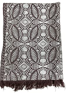 Poly wool Scarf with Feminine Design of Aari Embroidery Quill Weight For Women and Girls.