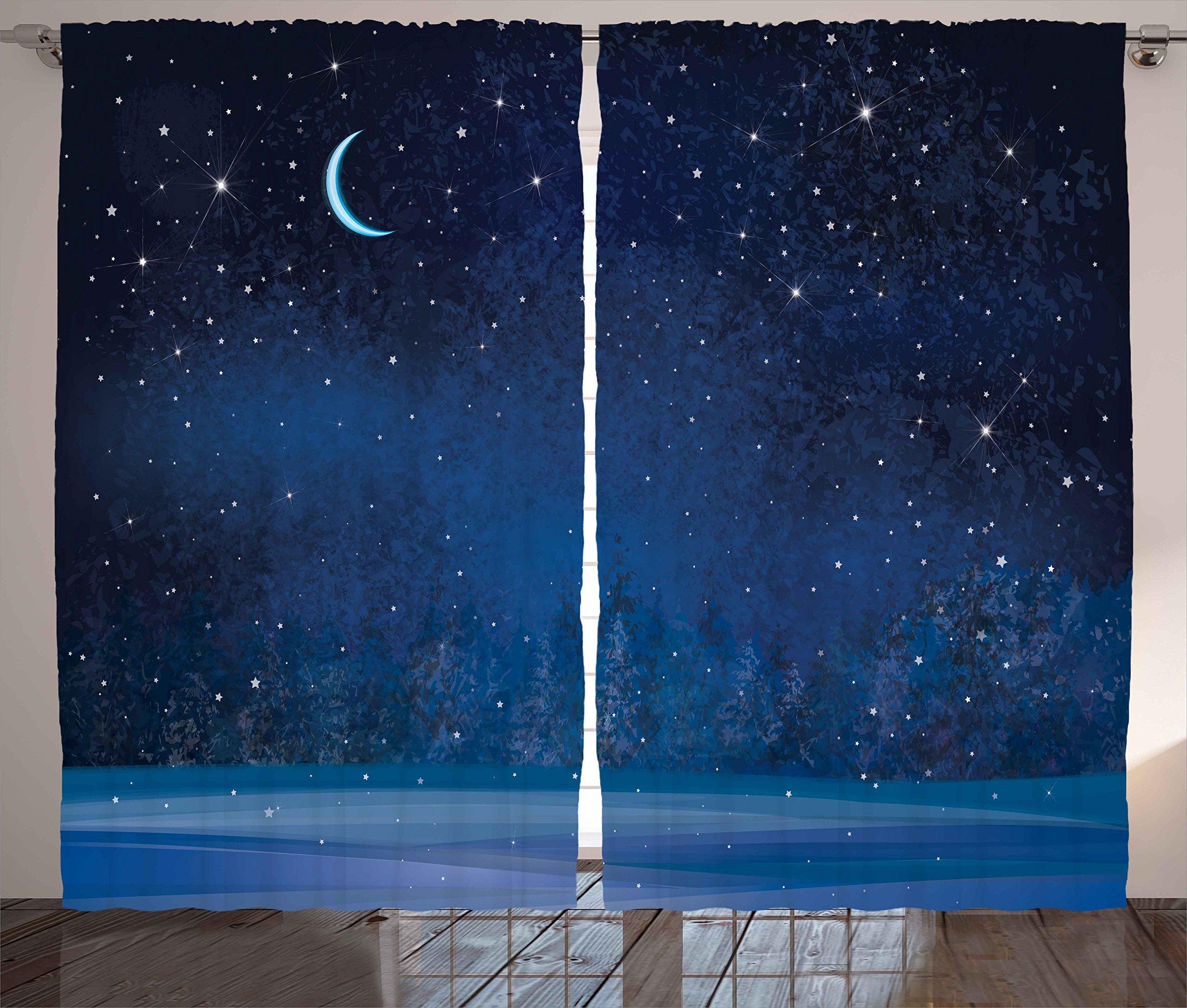 Ambesonne Curtains Wonderland Magical Landscape