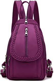 Women Convertible Small Nylon Backpack Purse Sling Shoulder Bag