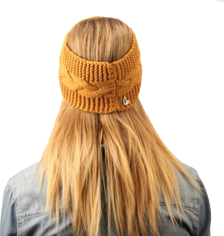 MaxLove Women's Savannah Headband, Mustard, One Size