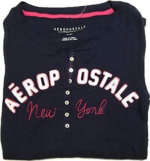 Aeropostale Womens Logo Ls Henley Shirt