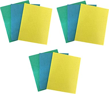 Brite Guard Cellulose Cleaning Sponge Mops (16x20x0.4 cm, Multicolour) - Pack of 9