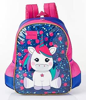 Luxcel Mochila Escolar Up4you Petit Unicornio Md , Azul