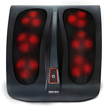 Belmint Shiatsu Foot Massager Machine with Heat - Rotating Heads & Soothing Heat for Deep Kneading Foot Massage Therapy and Plantar Fasciitis - Foot Arch and Nerve Pain Relief