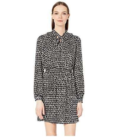 Kate Spade New York Pop Scallop Crepe Dress (Black) Women