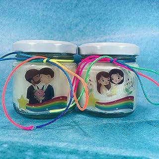 Unioni civili Famiglie Arcobaleno 24 candele di cera di soia bomboniere matrimonio gay Bomboniera Segnaposto ricordo ospiti