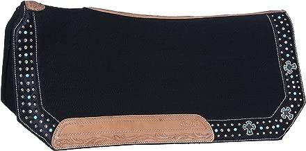 حزام تشين من Tough 1 بمشبك حزام مبطن، أسود