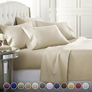6 Piece Hotel Luxury Soft 1800 Series Premium Bed Sheets Set, Deep Pockets,..