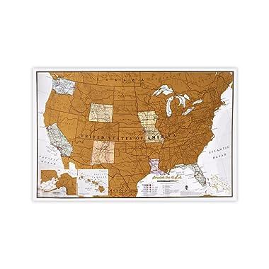 Maps International Scratch Off Travel Size Map Print - US National Parks - 11 x 17
