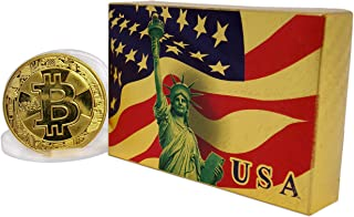 Big Texas Mall American Flag 24k Gold Poker Playing Cards w/Gold Plated Collectible Bitcoin Coin Place Setting Cards Real Gold Standard Professional Quality Gold Foil Plated Prestige Set