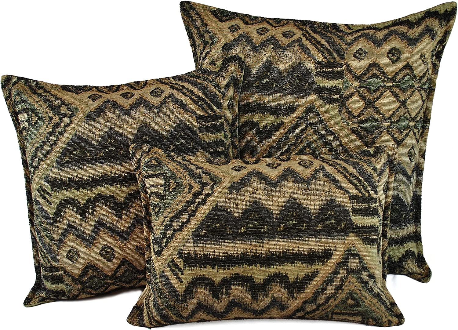 Down Filled Throw Pillows Set of Color Tradi Free shipping on posting reviews Today's only 3 Geometric Multi