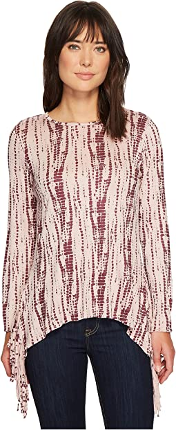 Cruel - Printed Top w/ Fringe Detail